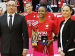 Statuetka wykonana przez naszą pracownię dla najlepszej zawodniczki finałów Tauron Basket Ligi Kobiet.