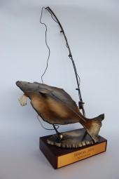 INNE Statuetka dla wędkarza Halibut